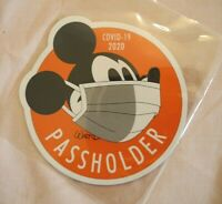 "Disney FANTASY Mickey Face Mask Passholder FAN MADE  Logo Magnet  4"""
