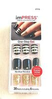 KISS imPRESS Press-On Manicure CLAIM TO FAME 30 Nails includes 6 Accents #67978