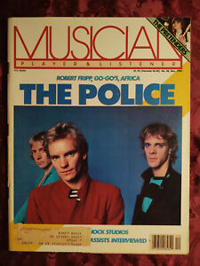 MUSICIAN Magazine December 1981 The POLICE PRETENDERS David Murray Bassists