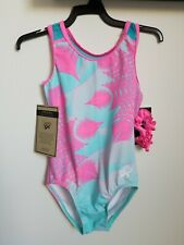 New Gk Simone Biles Collection Feathered Architec Leotard. Size Child Small, Cs.