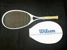 Wilson Defender Tennis Racket Racquet White with White Cover 4 1/4 Vintage