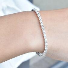 2.2ctw Moissanite Bracelet VVS1 Test Positive 14k White Gold Plated Silver 925