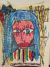 Art Contemporain Art Brut Art Singulier 4004 Oeuvre originale signée Jicé- 4