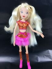 Winx Club Stella Believix Doll Jakks Pacific Blonde Skirt Top Socks Shoes