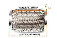 Universal 3 Zoll Flexrohr Flexstück Flammrohr Hosenrohr Auspuffrohr -76x150mm-