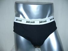 JUST CAVALLI 2er Pack Slip Unterhose Hip Brief Cotton Stretch XL schwarz NEU OVP