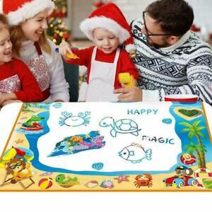 Girls/Boys Water Painting Drawing Mat Large Writing Board Magic Pen Kids Toy UK