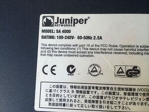 JUNIPER NETWORKS SA 4000 SA4000 SECURE ACCESS VPN FIREWALL SECURITY APPLIANCE