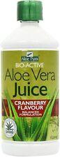 Optima Health Aloe Pura Aloe Vera Cranberry Juice 1L (Pack of 4)