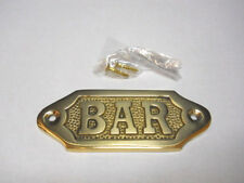 Solid Brass Bar Door Sign Or Decorative Plaque Wall Hanging New Pub Brewery