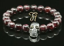 Garnet 0 5/16in Bracelet Pearl Bracelet Silver-Coloured Skull