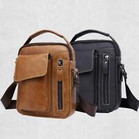100% Genuine Leather Men's Shoulder/Messenger Bag Cowhide Crossbody Bag Handbag