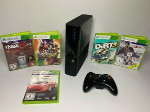 Microsoft Xbox 360 E 250GB schwarz inkl. Wireless Controller + 5 Spiele