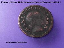 La Francia. Carlo II DE gonzaque Denier tournois 1653 A? AH6876.