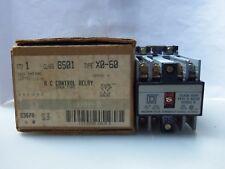 New Square D 8501 X0-60 A C Control Relay 110/120 Volt Series A NIB