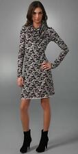 Rachel Pally Lace Print Cowl Neck Dress S NEW Black White Modal Stretch Knit