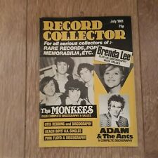 RECORD COLLECTOR MAGAZINE ~ JULY 1981 NO.23 THE MONKEES ADAM & THE ANTS FLOYD