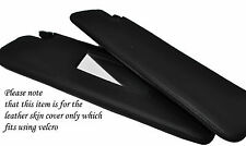 BLACK  STITCH 2X SUN VISORS SKIN COVERS FITS MERCEDES G CLASS W460 W461