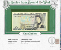 World Banknotes Great Britain 5 pounds 1980-87 P 378c UNC Somerset KR82