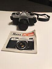 Pentax Asahi K1000 SLR 35mm Camera With 1:2 50mm Lens,Strap And Original Manual
