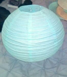 Chinese large paper lampshade green Oriental