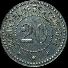 NOTGELD: 20 Pfennig 1918. Funck 258.2b. STADT KOSCHMIN / POSEN. KOŹMIN.