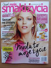 ANJA RUBIK on front cover Polish Magazine MOJE SMAKI ZYCIA 4/2015