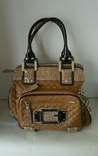 Guess bag Brown with quilting front and back and Animal Print Super Cute!