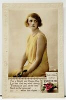 Theater Glamour Girl Real Photo Hand Colored by Rita Martin c1920s Postcard H16