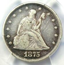 1875-P Twenty Cent Coin 20C - Certified PCGS VF30 - Rare Date 1875 Coin!