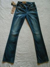SILVER JEANS TUESDAY LOW RISE FLUID BOOTCUT STUDS & JEWELS 25 X 33 NEW WITH TAGS