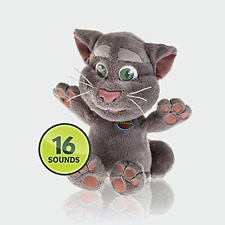 Talking Friends 10-inch Tom Cat Plush 16 Sounds Fluffy Hugging Cuddly Kids Toy