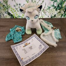 Build A Bear Pokemon Alolan Vulpix Bundle NWT cape sound sleeper