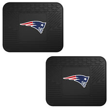 NFL New England Patriots Car Truck 2 Back Utility All Weather Rubber Floor Mats
