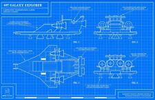 "Original LEGO Art 497 Galaxy Explorer Classic Space Blueprint 11""x17"" Poster"
