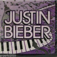 JUSTIN BIEBER SMALL NAPKINS (16) ~ Birthday Party Supplies Cake Dessert Beverage