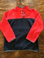 Spyder kids pullover Snap Zip Red Blue fleece boys size Large
