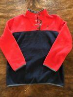 Spyder kids pullover Snap Zip Red Blue fleece boys size Large