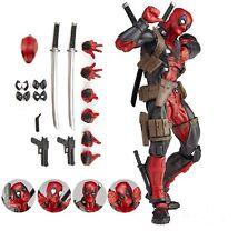 Figura de Acción Deadpool, 16 cm totalmente articulada varios rostros y armas