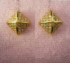 Auth Juicy Couture Pave Gold Cube Stud Earrings Studs $48
