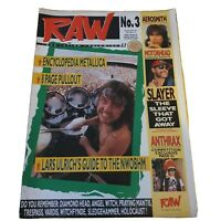 Raw Music Magazine Number Three Lars Ulrich Sept 1988 with poster