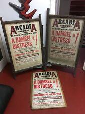 Original 1937 - 38 Skegness Arcadia-théâtre amateur-THEATRE Poster Boards