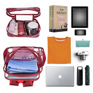 New Women Transparent Jelly Bag Clear PVC Laptop Backpacks Storage Shoulder Bags