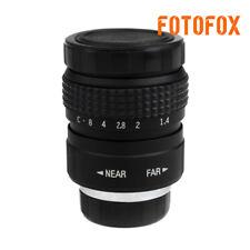 FUJIAN 25mm f/1.4 c mount cctv f1.4 lens for micro 4/3 m4/3 nex GX1 OM-D 1 black