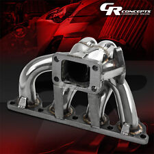 FOR 88-00 HONDA D-SERIES D15 D16A T3 STAINLESS RACING TURBO CHARGER MANIFOLD KIT