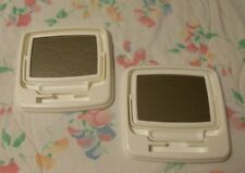 2 Vintage (1990s) Mary Kay White Consultant 2-sided Mirror and Demo Tray