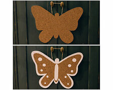 """""""Butterfly"""" Cork Memo Notice Board message home office wall pinboard, 7 pins"""