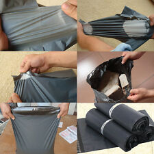 10Pcs Mailing Gray Plastic Postage Post Packing Postal Courier Bags 25*35cm