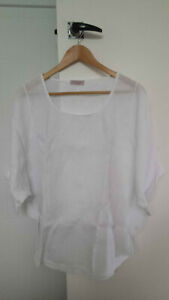 Love Linen France by C. Valentyne white top- extra large