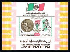 [77462] Yemen Kingdom 1968 Olympic Games Mexico Athletics Souvenir Sheet MNH